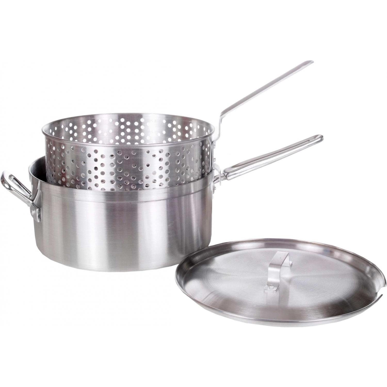 10175 12 Deep Fry Pot W Perforated Aluminum Basket